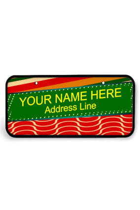 Colours of Life Wooden Nameplate