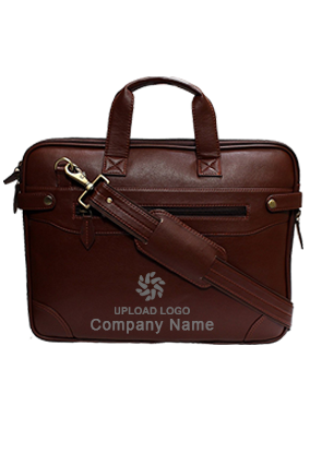 Leatherite Synthetic Sleek Faux Leather Laptop and Tablet Bag Brown