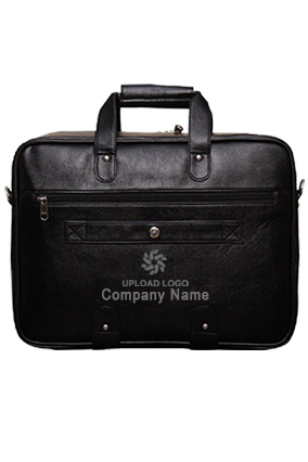 Synthetic Leather Laptop Black Executive Office Bag Black