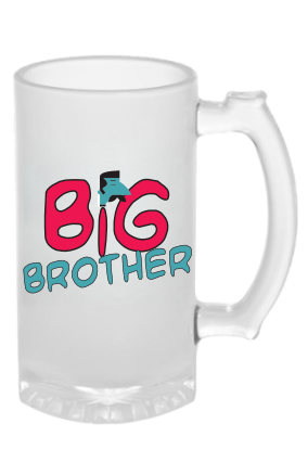 Customized Big Brother Frosted Beer Mug