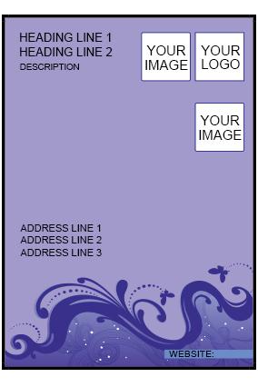 Purple Waves Flyer
