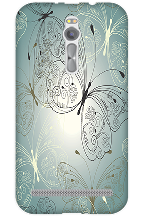 Transparent Silicon - Floric Asus ZenFone 2 Mobile Cover