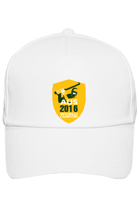 Championship White Cap with Name