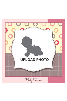 It's a Baby Shower Square Canvas Print