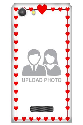 Transparent Silicon - Heart Valentine's Day Micromax Unite 3 Q372 Mobile Cover