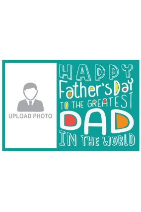 Best Dad Father's Day Landscape Canvas Print
