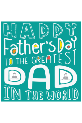 Best Dad Father's Day Square Canvas Print