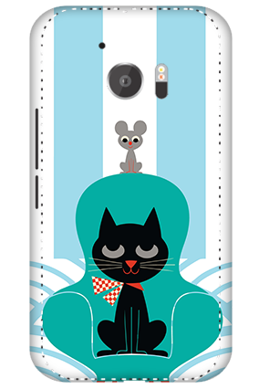 3D - HTC M10 Cat Mobile Cover