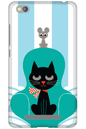 3D - Xiaomi Redmi 4A Cat Mobile Cover