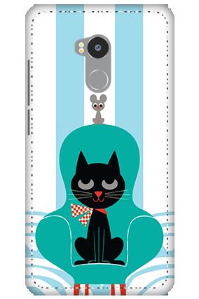 3D - Redmi 4 Prime Cat Mobile Cover