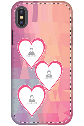 3D - Apple iPhone X Pinkish Heart Mobile Cover