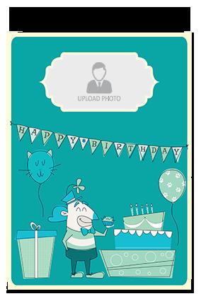 Cute Birthday Hard Paper Greeting Card