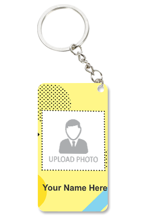 Photo Printed Personalized Small Rectangle Key Chain
