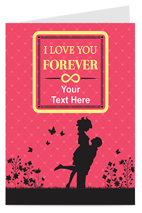 I Love You Forever Valentine Greeting Card