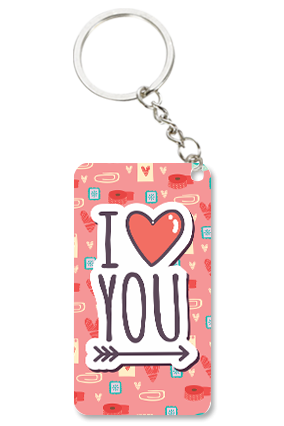 Adorable Love Valentine Small Rectangle Key Chain