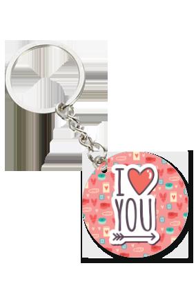 Adorable Love Valentine Round Key Chain