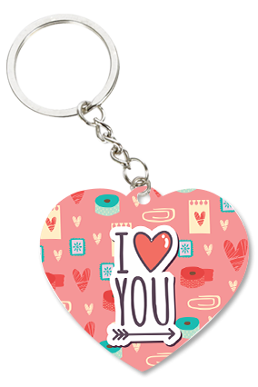 Adorable Love Valentine Heart Key Chain