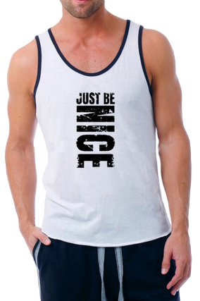 Just Be Nice Poly Cotton Sleeveless Gym and Sportswear Tank Tops Sports Tshirt or Vests for Men