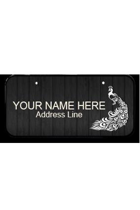 Designer Peacock Dance Wooden Nameplate