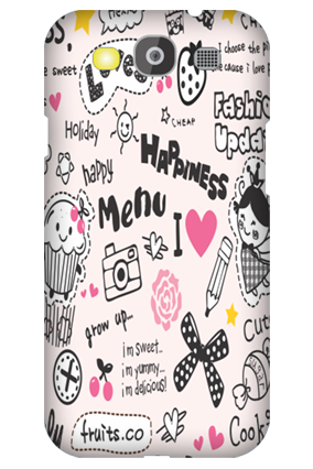 Customized Samsung Galaxy S3 Neo Happiness Menu Mobile Cover