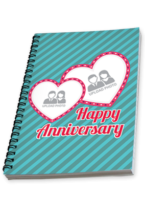 Personalised Anniversary Wishes Notebook