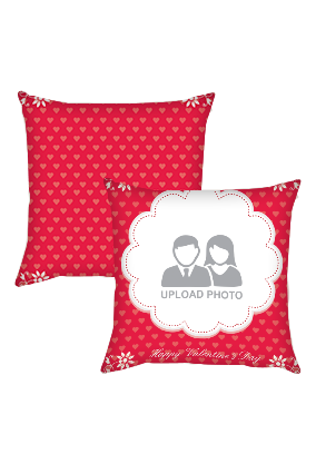 Red Colored Valentines Day Cushion Cover