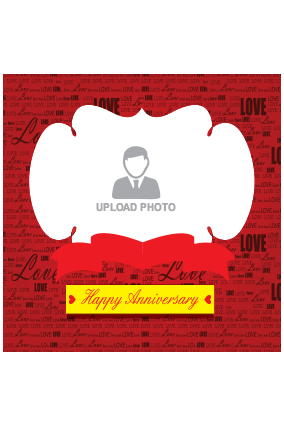 Anniversary Wishes Square Canvas Printing