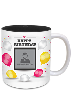 Celebration Inside Black Mug