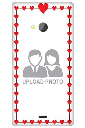 Silicon - Microsoft Lumia 540 Heart Valentine's Day Mobile Cover