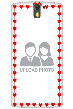 3D - OnePlus One Heart Valentine's Day Mobile Cover