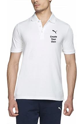 Create Your Own White Cotton Polo T-Shirt - 82288511