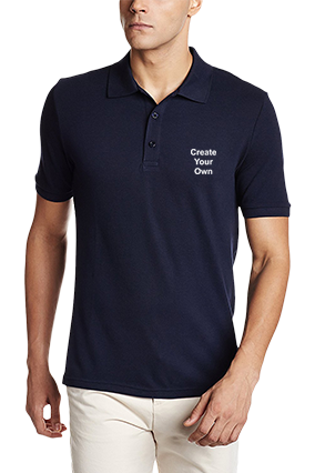 Create Your Own Navy Blue Cotton Polo T-Shirt - 82288512
