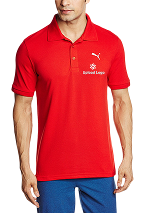 Upload Logo Red Cotton Polo T-Shirt - 82288513