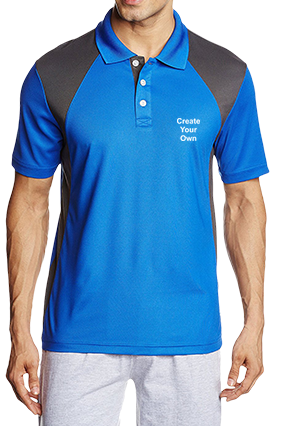 Customised Create Your Own Royal Blue Dezire Polo T-Shirt - 82745706