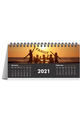 Family Desk Photo Calendar(8.2 x 3.7 Inches) - 6 Leaves
