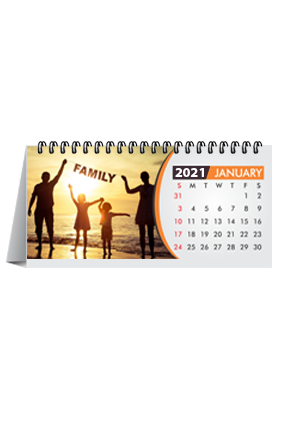 Family Desk Photo Calendar(8.2 x 3.7 Inches) - 12 Leaves