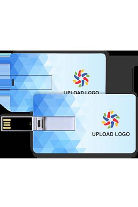 Promotional Light Sky Blue Colors Credit Card Pen Drive (8, 16, 32 GB)