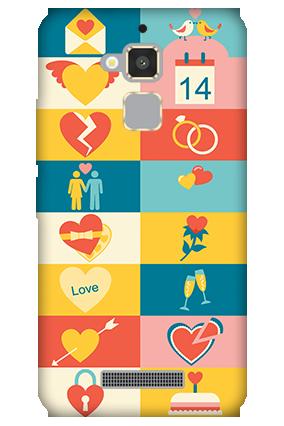 Asus Zenfone 3 Max Creative Valentine's Day Mobile Cover