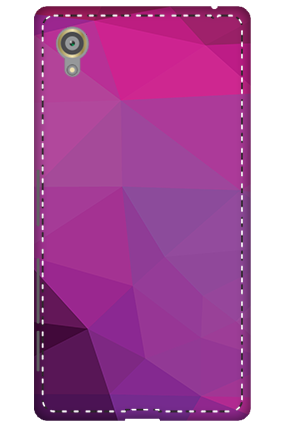 3D - Sony Xperia X Purple Mobile Cover
