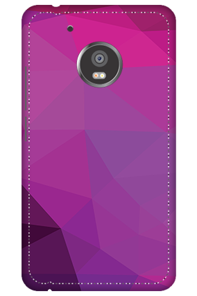 3D -  Moto G5 Purple Mobile Cover