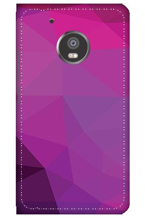 3D -  Moto G5 Purple Mobile Cover