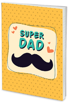 Custom Effit My Dad,My Superman Father's Day Notebook