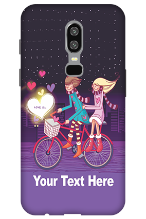 3D-OnePlus 6 Ride Valentine's Day Mobile Cover