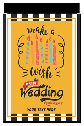 Wedding Anniversary Hard Paper Greeting Card