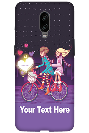 3D - Oneplus 6T Ride Valentine's Day Mobile Cover