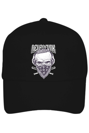 Soldier With Mask Cotton Black Cap