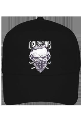 Soldier With Mask Cotton Black Cap