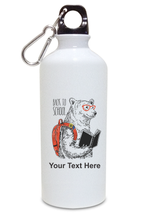 Back to School Personalized Kids White Color Sipper