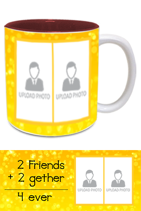 Friends Forever Printed Inside Maroon Mug