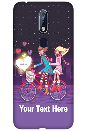 3D Nokia 7.1 Ride Valentine's Day Mobile Covers